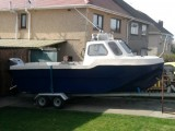 17ft dory on twin axle trailer